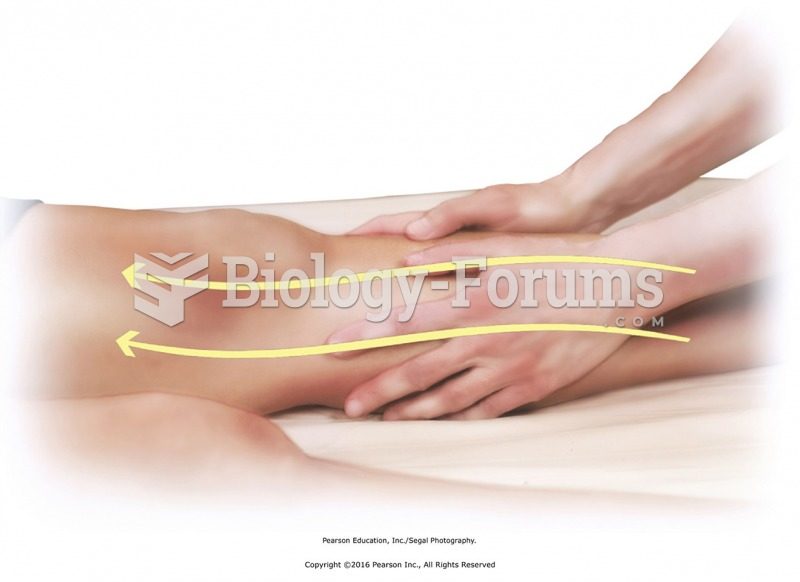 Use full palms to apply light sliding strokes from foot to hip. This connects and finishes massage ...