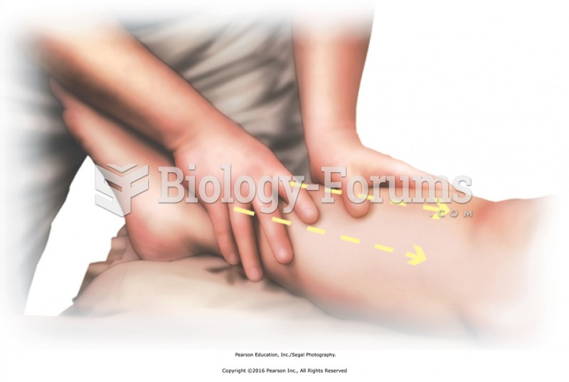 Clear the lower leg with long strokes. Start proximal to the ankle, and stroke to the knee and ...