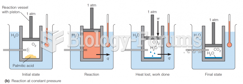 Reaction at constant-pressure