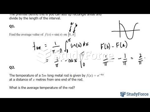 How to find the average value of a function