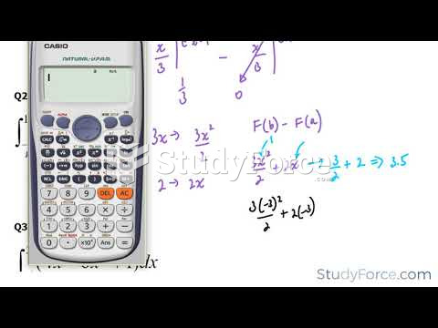 How to find the definite integral using the fundamental theorem of calculus (Part 1)