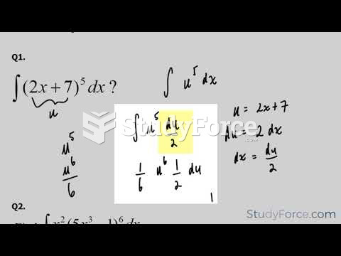 How to perform the substitution rule with integrals (Part 1)