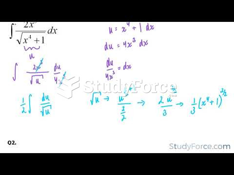 How to perform the substitution rule with integrals (Part 2)