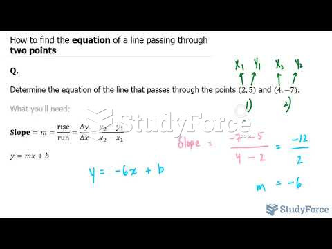 How to find the equation of a line passing through two points