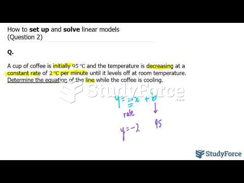 How to set up and solve linear models (Question 2)