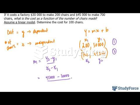 How to set up and solve linear models (Question 3)