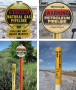 Pipeline markers are used to mark the location of underground pipelines containing hazardous ...