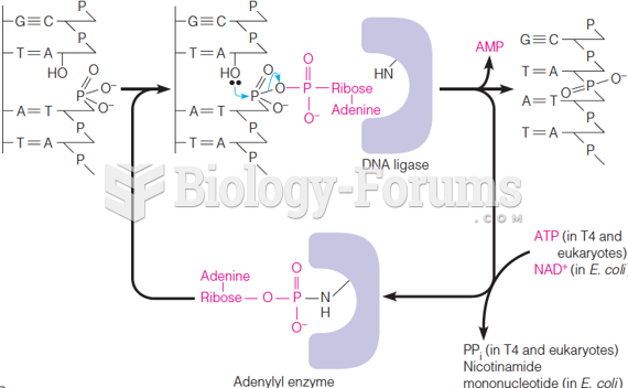 The reaction catalyzed by DNA ligase