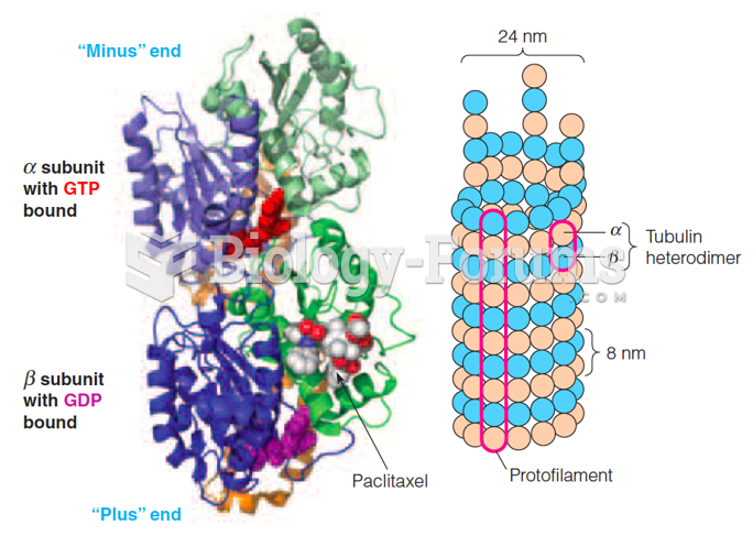 A helical array of and tubulin forms a microtubule