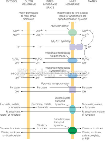 Major inner membrane transport systems for respiratory substrates and products