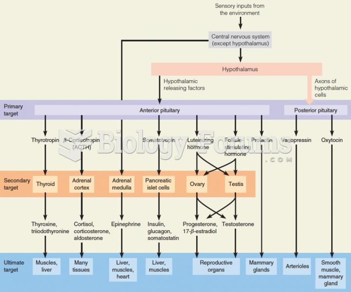 Hierarchical nature of hormone action in vertebrates