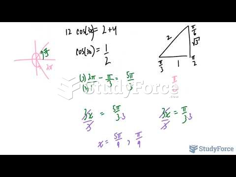 How to solve equations that contain cosine using special triangles (Part 1)