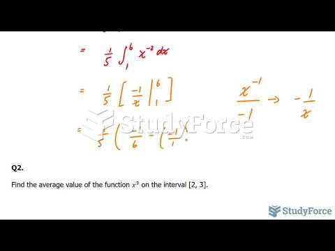 How to find the average value of a function (Part 2)