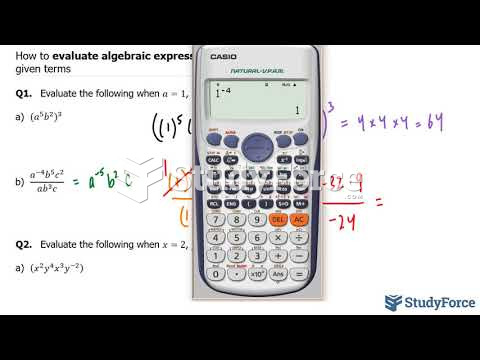 How to evaluate algebraic expressions with given terms
