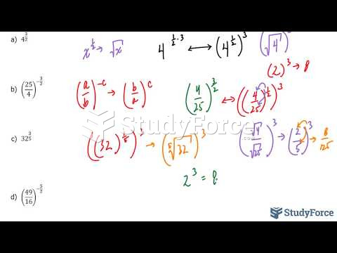 How to evaluate algebraic terms containing fractional exponents without a calculator
