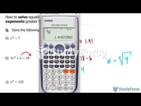 How to solve equations containing rational exponents greater than 2