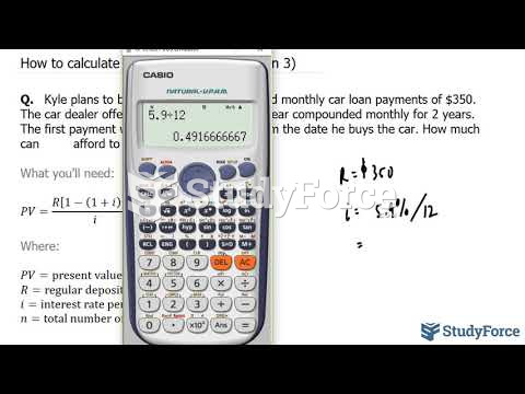 How to calculate present value (Question 3)