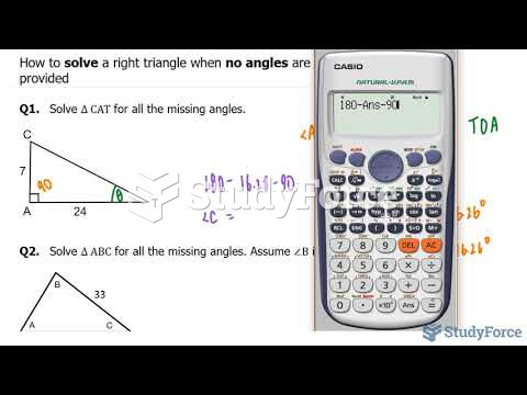 How to solve a right triangle when no angles are provided