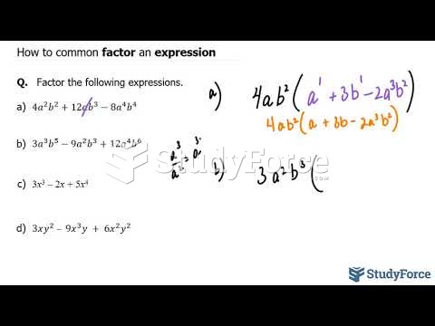 How to common factor an expression