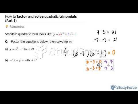 How to factor and solve quadratic trinomials (Part 1)