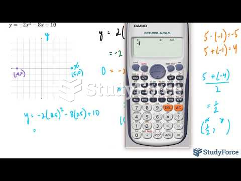 How to sketch a quadratic equation that is in standard form (Question 2)