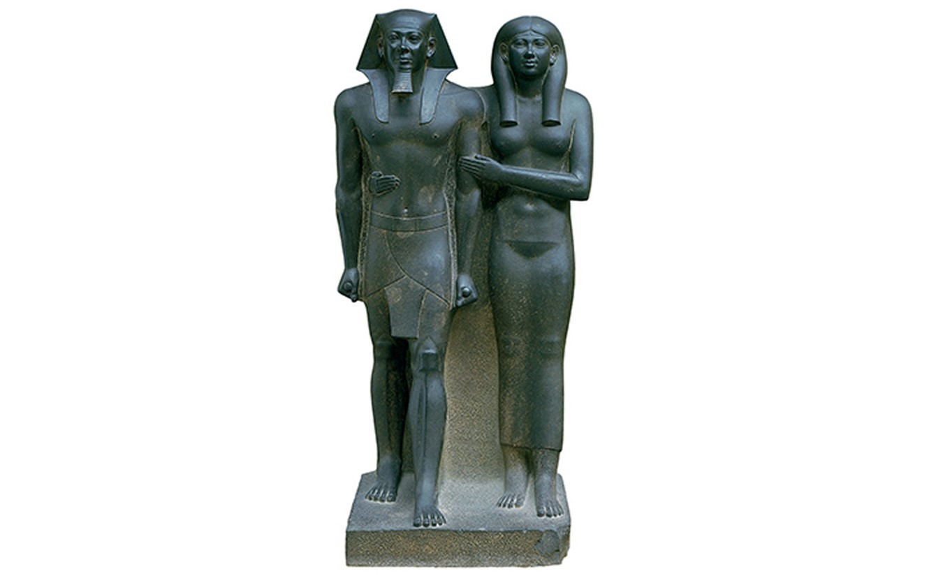 menkaure and khamerernebty He built his pyramid at giza which he named menkaure is divine his pyramid complex included a satellite pyramid for his wife khamerernebty ii archaeologists have recovered a number of beautiful statues of menkaure including fine examples which depict the king with khamerernebty ii and others in which he appears with hathor.