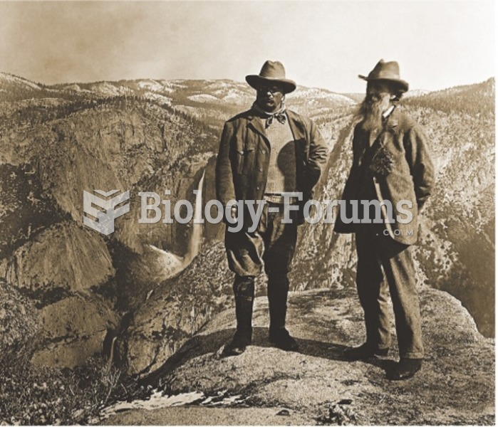 John Muir (right) with President Roosevelt at Yosemite National Park