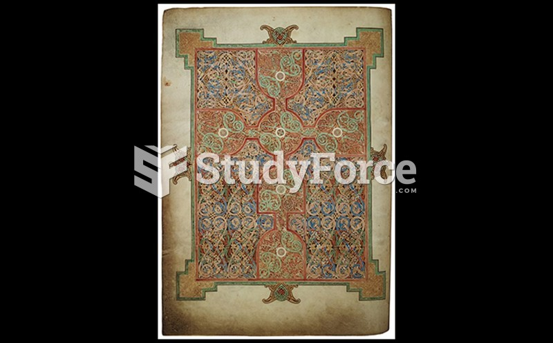Visual Elements of Pictorial Expression: A. Carpet Page from the Lindisfarne Gospels