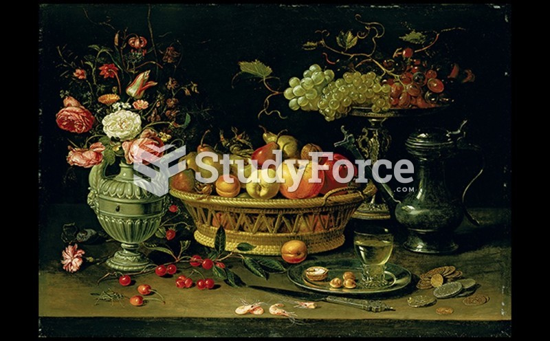 A. Clara Peeters Still Life with Fruit and Flowers