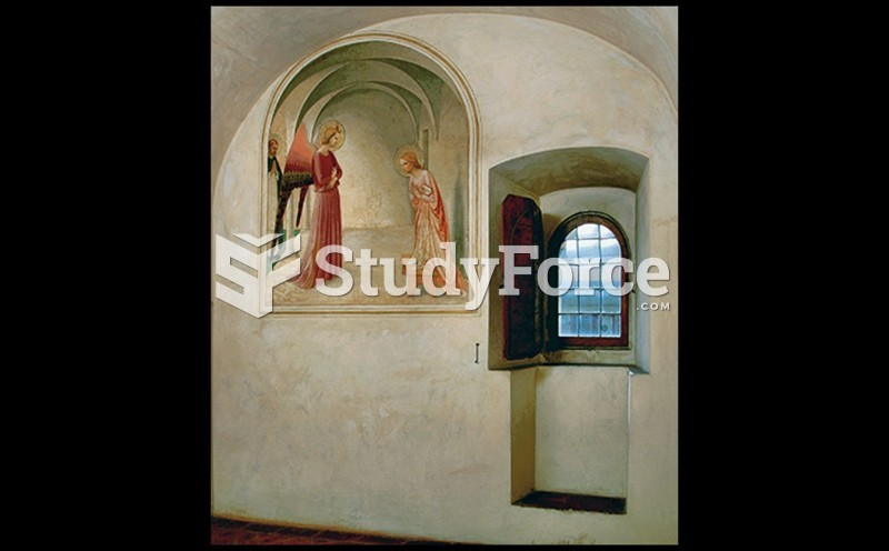 VIEW OF A MONK'S CELL IN THE MONASTERY OF SAN MARCO, FLORENCE