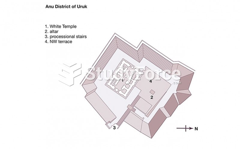 Plan of the Anu Ziggurat and White Temple