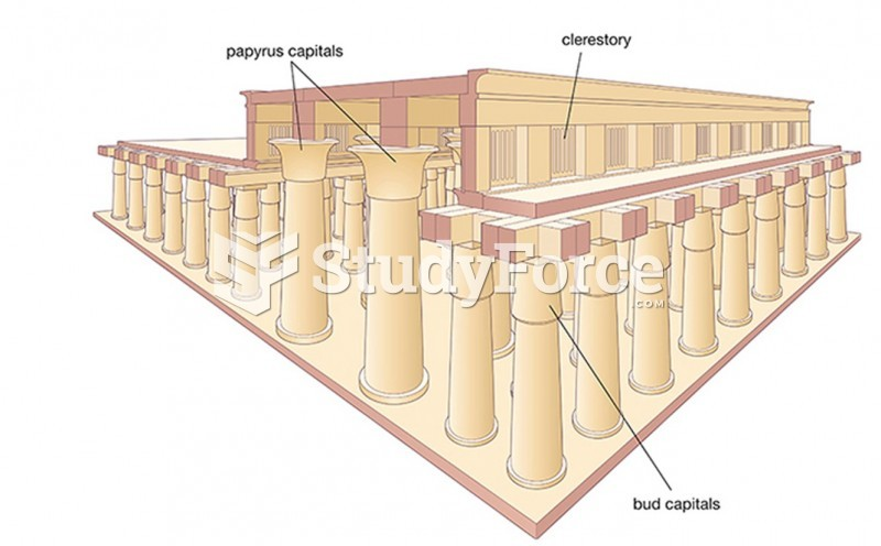 Reconstruction Drawing Of The Hypostyle Hall, Great Temple Of Amun At Karnak