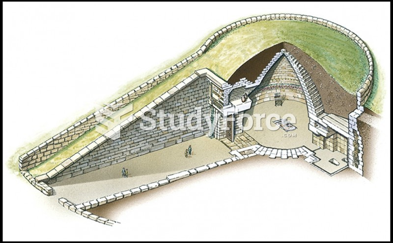 Cutaway Drawing of Tholos, The So-called Treasury of Atreus