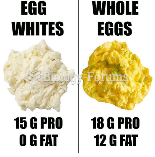 Comparison between whole eggs and egg whites