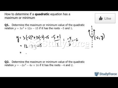 How to determine if a quadratic equation has a maximum or minimum when given the roots