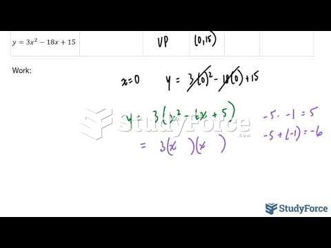 How to fully analyze the standard and factored form of a quadratic equation (Question 1)