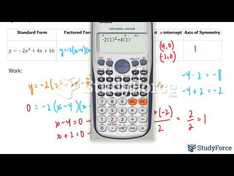 How to fully analyze the standard and factored form of a quadratic equation (Question 2)