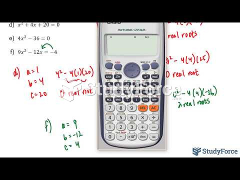 How to use the discriminant to determine the number of roots for any quadratic equation