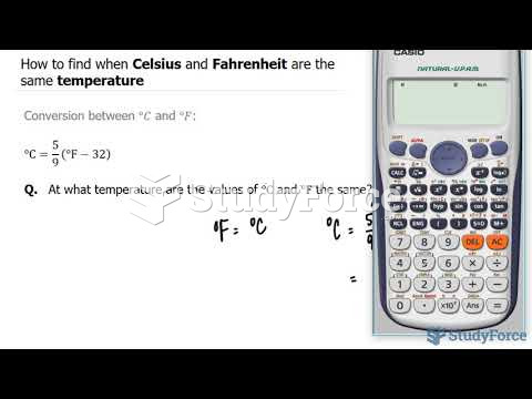 How to find when Celsius and Fahrenheit are the same temperature