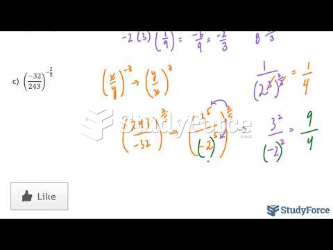 How to evaluate algebraic terms containing fractional exponents without a calculator (Part 2)