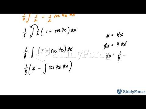 How to integrate trigonometric functions containing even powers (Question 2)