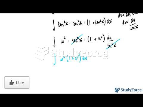 How to integrate trigonometric functions containing both tangent and secant (Question 1)