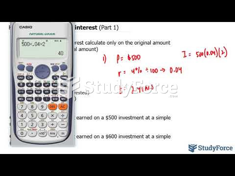 How to calculate simple interest (Part 1)