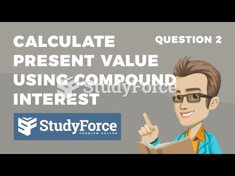 How to calculate present value using the compound interest formula (Question 2)