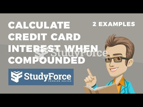 How to calculate credit card interest when the interest is compounded