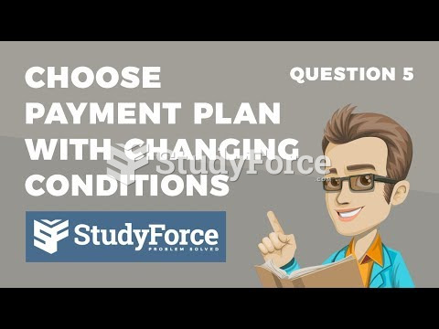 How to choose the right payment plan with changing conditions (Question 5)
