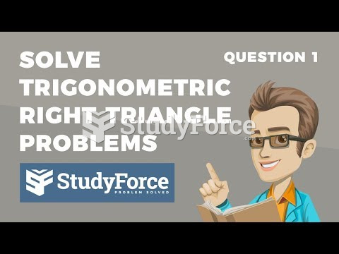 How to solve a trigonometric problem involving two right triangles (Question 1)