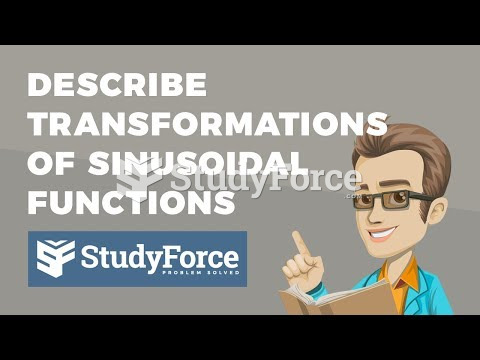 How to describe transformations of a sinusoidal function (y=a*sinb(x−c)+d)