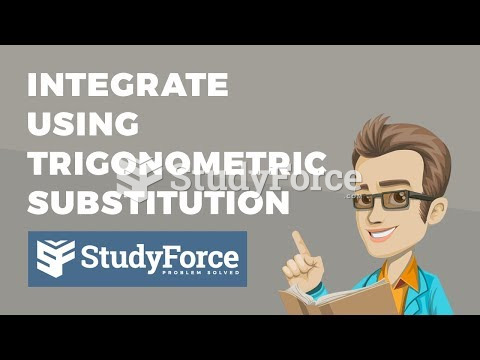 How to integrate using inverse trigonometric substitution (Question 1)