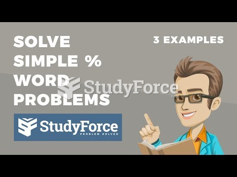 How to solve simple percent word problems (Part 1)